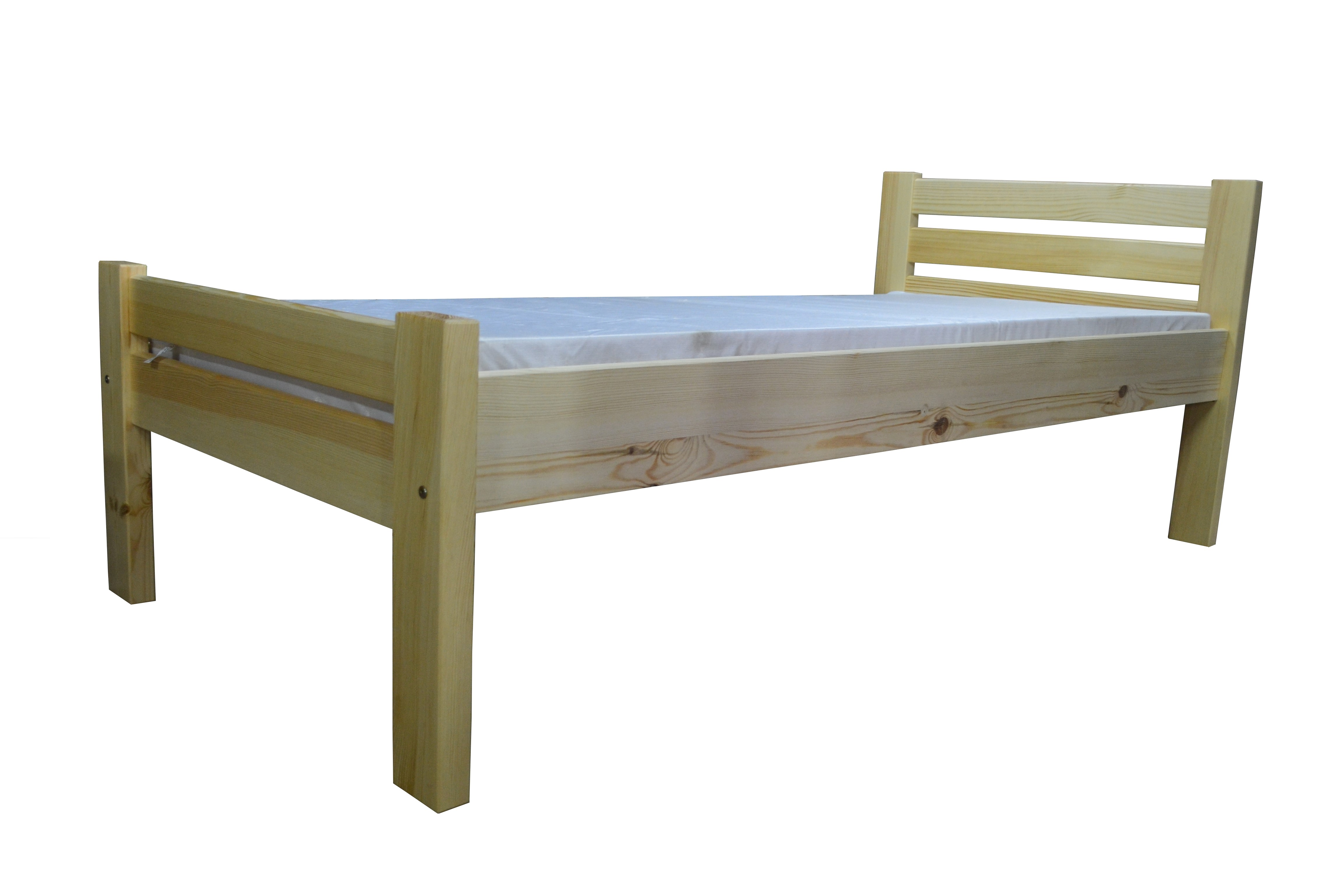 Drewniane łóżko Roman